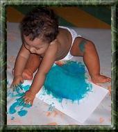 Guia de dactilopintura para bebes