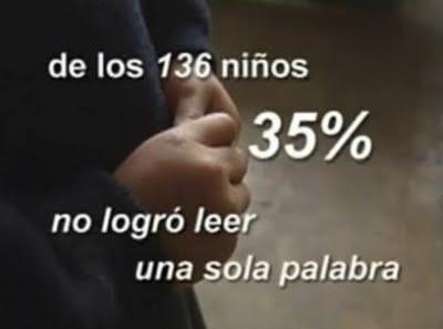 35 porciento de niños en Lima peru no saben leer