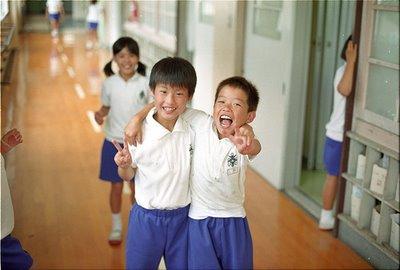 Amigos en el colegio