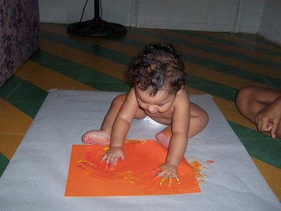 Arte infantil - dactilopintura