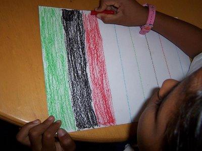 actividad de esgrafiado en preescolar