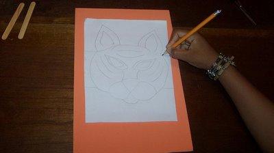 Mascara de Tigre en Foamy paso 1