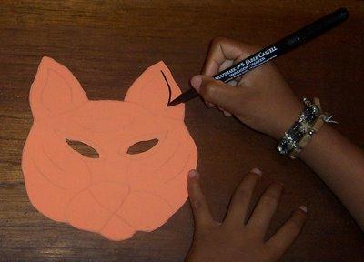 repintar molde de tigre con marcador permanente