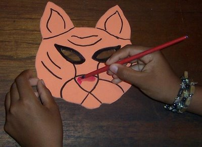 pintar nariz de tigre en foamy