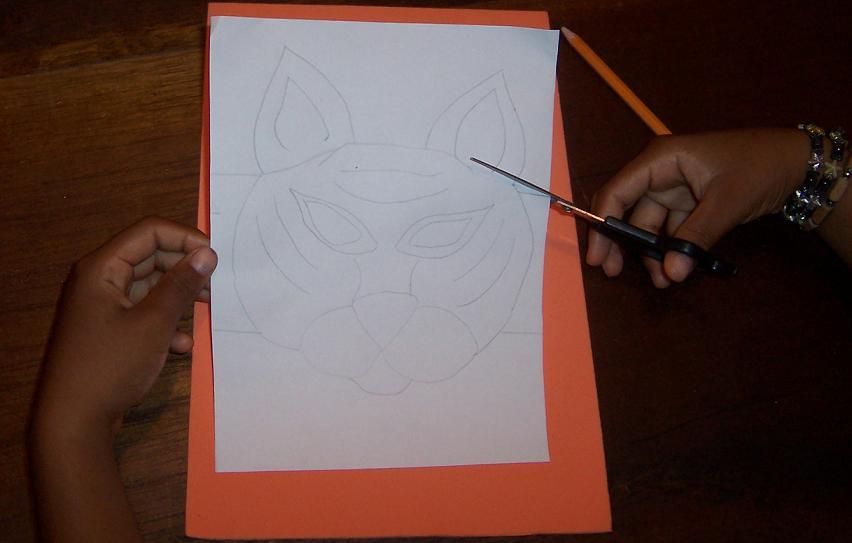 Jardin Infantil: Actividad Didáctica - Mascara de Tigre en Foamy